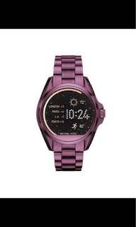 Michael Kors Bradshaw Plum-Tone Smartwatch
