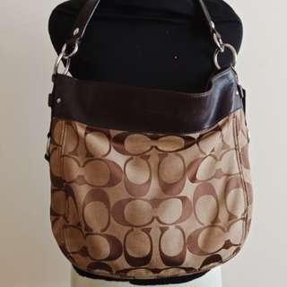 Coach signature hobo bag