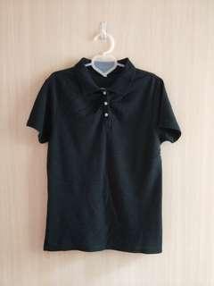 🚚 黑色Polo衫