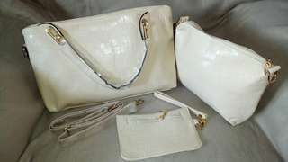 Bag-14 Onhand 3in1 White Hand/Sling Bag
