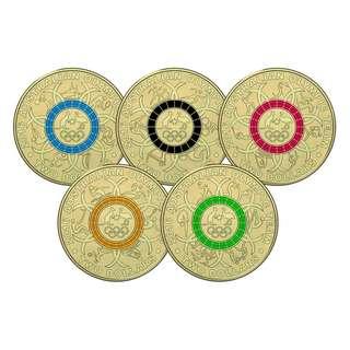 澳洲 2016年 奧運會七彩紀念coins set