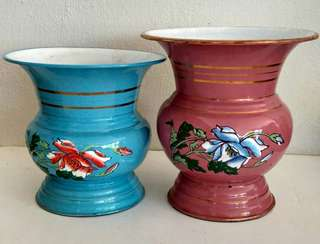 Enamel vase set of 2 pcs