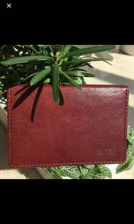 激抵 85% Off Authentic New Bree Oak Colour Leather Card Case