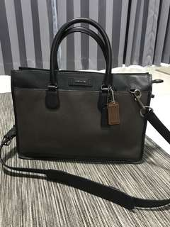 Authentic Coach Embassy Brief in Colorblock Leather