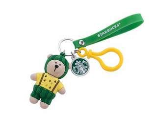 星巴克 Starbucks 西瓜小熊掛飾