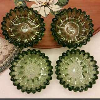 義大利綠色玻璃碟(一組)
