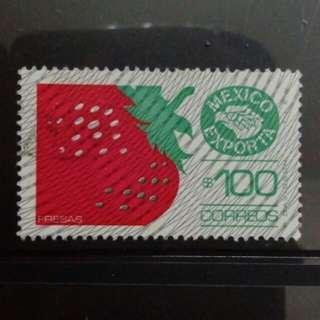 [lapyip1230] 墨西哥 1975年 士多啤梨 $100 高面額 舊票 VFU