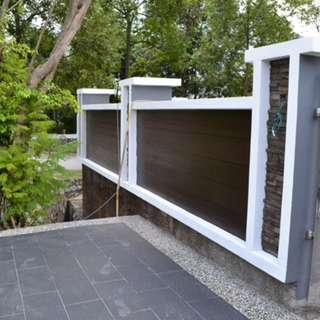 Membuat pagar dan porch