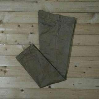 Uniqlo Chino Original Celana Panjang Coklat Muda
