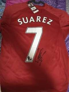 Liverpool jersey original/suarez