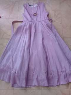Long Purple Silk Dress