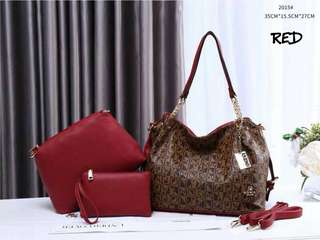 Sembonia 3 in 1 Handbag Red Color
