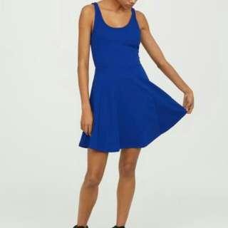 H&M Blue sleeveless Jersey Dress