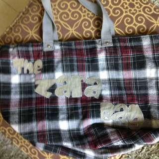 Zara Checkered Print Bag