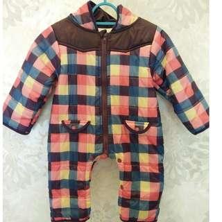 Baby Spring/Autumn/ Winter Outerwear Hoodie Jumpsuit (95cm)