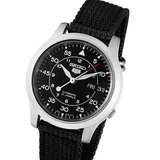 SEIKO 5 Military SNK809K2 Black Nylon Strap Automatic Watch