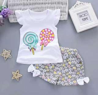 🍭 Lollipop top + shirt set