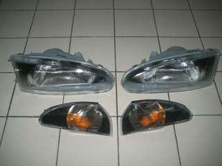 Lampu head lamp Proton Wira original+signal murah