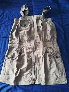 Playsuit tube dress (khaki)