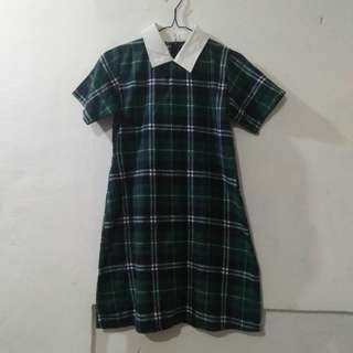 Dress Bahan Semi-Flanel