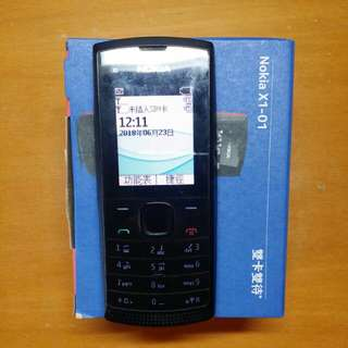 Nokia X1 Dual SIM Feature Phone (Black)