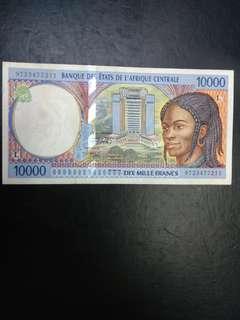 Central Africa 10000 Francs
