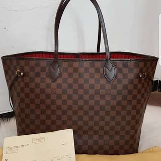 EXCELLENT Preloved Authentic LV Neverfull GM DE 2013