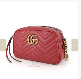 Gucci Marmont Cross body bag in red