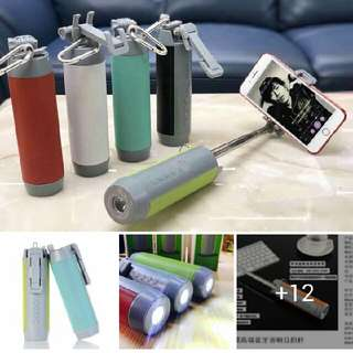 5 In 1 (Bluetooth Speaker, Monopod, Camera Shutters, Stand, Flashlight)