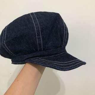 牛仔丹寧報童帽