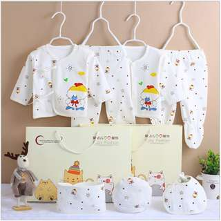 Yellow Baby clothes newborn gift set 0-3 months