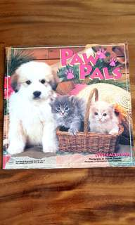 Vintage PAW PALS dogs and cats CALENDAR 1997