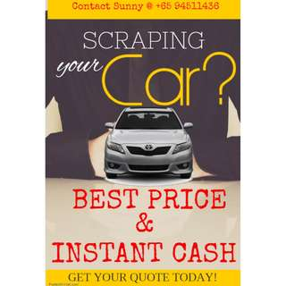 SCRAP CAR- Immediate Cash