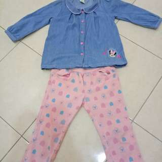 Girl Blouse and pant sets