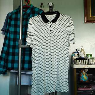 Premium Dotted White Collared shirt (350php only)