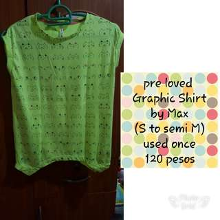 Pre love graphic shirt