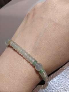 🚚 緬甸天然A貨玻璃種算盤玉珠手鍊