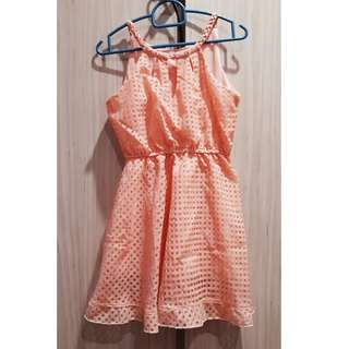 Coral Pink Dress for Petite Lady