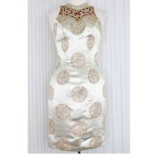 Midi dress / Cheongsam dress / Oriental dress  warna Gold