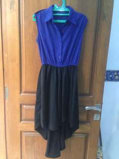 Dress Hitam Biru