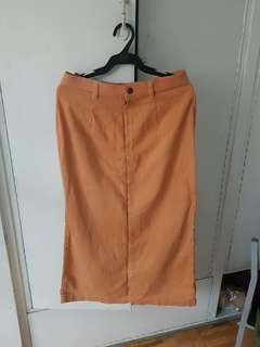 Long skirt Orange