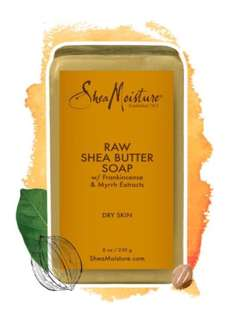 Shea Moisture - Raw Shea Butter Bar Soap with Extracts of Frankincense & Myrrh - 8 oz. (230 g)