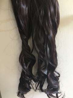 Hair extensions DARK brown * WAVY