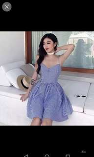 Inc pos BN blue dress