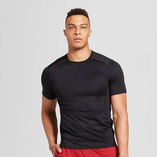 Men's Compression Jacquard Meshed Pieced T-Shirt - Champion
