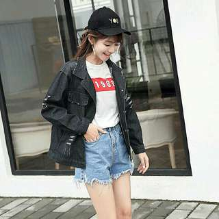 BNEW Oversized ripped denim jacket