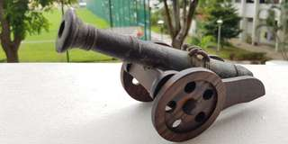 Miniature Steel Cannon (approx 200mm long)