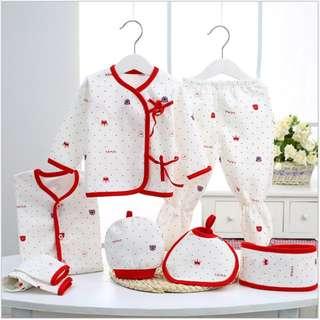 Red Baby clothes newborn gift set 0-3 months