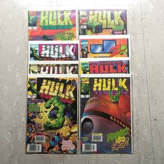 8 copies of HULK Comics