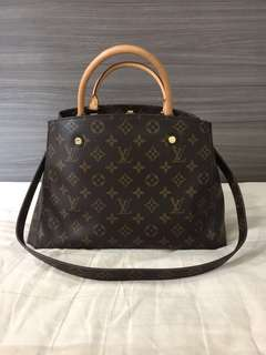 Authentic LV Montaigne MM monogram